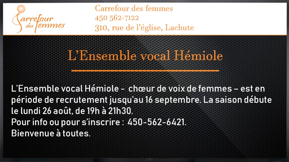 L'Ensemble vocal Hémiole
